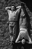 Roger-Viollet | 1033431 | Roger Pierre (1923-2010) and Jean-Marc Thibault (1923-2017), French actors. France, 1956. | © Bernard Lipnitzki / Roger-Viollet