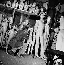 Roger-Viollet | 1036177 | Display mannequins in the storeroom of the Galeries Lafayette department store. Paris (IXth arrondissement), 1948. | © Pierre Jahan / Roger-Viollet