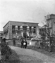 Roger-Viollet | 1045554 | Paris, World Fair of 1867. Egyptian centre, the temple of Edfou. | © Léon & Lévy / Roger-Viollet
