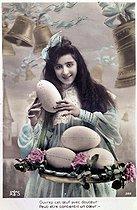 Roger-Viollet | 1059163 | Easter. Fancy postcard. About 1900. | © Roger-Viollet / Roger-Viollet