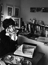 Roger-Viollet | 1082046 | Inès de la Fressange (born in 1957), French model. France, 1993. Photograph by Janine Niepce (1921-2007). | © Janine Niepce / Roger-Viollet
