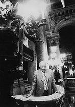 Roger-Viollet | 1093508 | Rolf Liebermann (1910-1999), Swiss composer and manager of the Opéra de Paris. Paris, Palais Garnier, on June 7, 1974. | © Jean-Pierre Couderc / Roger-Viollet