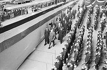 Roger-Viollet | 1154573 | Inauguration du sous-marin atomique français  Le Redoutable . Cherbourg (Manche), 29 mars 1967. | © Jacques Cuinières / Roger-Viollet