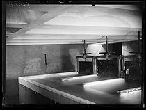 Roger-Viollet | 1309212 | The filtrating basins of the water plant of Saint-Maur (Seine, France). Saturday 16 July 1921. Photograph from the French newspaper  Excelsior . | © Excelsior - L'Equipe / Roger-Viollet