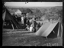 Roger-Viollet | 1310562 | The summer camp of Les Mesnuls (Seine-et-Oise, France). Friday 2 September 1921. Photograph from the French newspaper  Excelsior . | © Excelsior - L'Equipe / Roger-Viollet