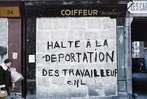 Roger-Viollet | 1372424 | Belleville district. Former hairdresser's salon, sealed and tagged. Paris (XIXth-XXth arrondissements), 1968-1975. Photograph by François-Xavier Bouchart (1946-1993). Paris, musée Carnavalet. | © François-Xavier Bouchart / Musée Carnavalet / Roger-Viollet