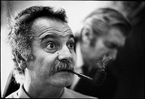 Roger-Viollet | 1376068 | Georges Brassens (1921-1981), French singer-songwriter, rehearsing at the Olympia. Paris (IXth arrondissement), 14 January 1970. Photograh by André Perlstein (born in 1942). | © André Perlstein / Roger-Viollet