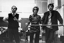 Roger-Viollet   1378222   François Truffaut, Catherine Deneuve and Jean-Paul Belmondo   © André Perlstein / Roger-Viollet
