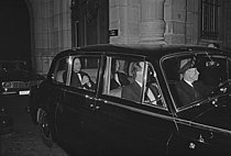 Roger-Viollet | 1380090 | Prince Philip, Duke of Edinburgh (1921-2021), at the British embassy. Paris, on December 20, 1966. Photograph by Bernard Charlet, from the collections of the French newspaper  France-Soir . Bibliothèque historique de la Ville de Paris. | © Charlet, Bernard / Bernard Charlet / Roger-Viollet