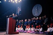 Roger-Viollet | 1381580 | François Mitterrand (1916-1996), presidential candidate. Toulouse (Haute-Garonne, France), 17 December 1965. | © Jean-Régis Roustan / Roger-Viollet