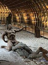 Roger-Viollet | 1383112 | Ousmane Sow (1935-2016).  Little Bighorn ,  Scene of a scalp . Fortress of Mont-Dauphin (Hautes-Alpes), May 2021. | © Béatrice Soulé / Roger-Viollet