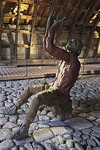 Roger-Viollet | 1383265 | Ousmane Sow (1935-2016).  The Battle of Little Bighorn  series. Sitting Bull praying. Fortress of Mont-Dauphin (Hautes-Alpes, France), Centre des Monuments Nationaux, 2021. | © Béatrice Soulé / Roger-Viollet