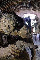 Roger-Viollet | 1383279 | Ousmane Sow (1935-2016).  The Battle of Little Bighorn  series. The unhorsed rider. Fortress of Mont-Dauphin (Hautes-Alpes, France), Centre des Monuments Nationaux, 2021. | © Béatrice Soulé / Roger-Viollet